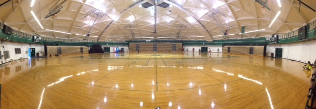 Highline College 6 court gym